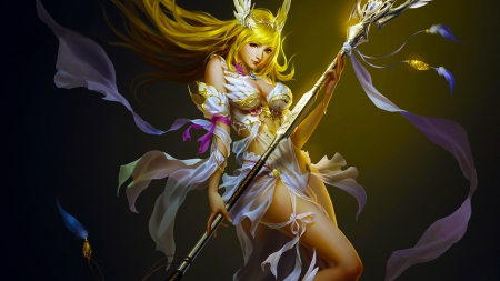 League of Angels - beautiful, digital, fantasy, woman, girl, art, wallpaper, angel