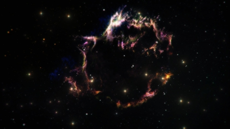 Aftermath of a supernova - Supernova, Black, Background, Space, Stars