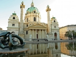 lovely st. charles church in vienna austria