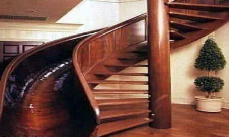 Staircase Slide - architecture, staircase, slide, houses, jamie foxx, actors