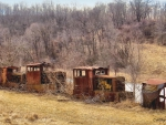 Rusty Abandoned Train Cars