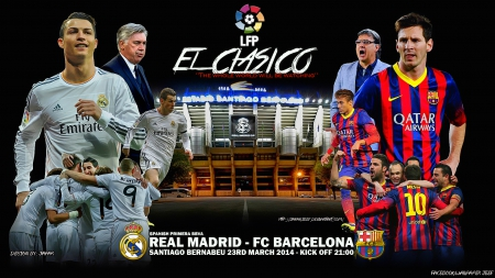 REAL MADRID - FC BARCELONA - cr7, bale, REAL MADRID, lionel messi, cr7 wallpaper, gareth bale, nike, Fc Barcelona wallpaper, ronaldo, el clasico, messi, sergio ramos, neymar, Fc Barcelona, benzema, lionel messi wallpaper, cristiano ronaldo, iniesta, el clasico wallpaper, adidas, champions league, laliga, Santiago Bernabeu, REAL MADRID wallpaper, xavi