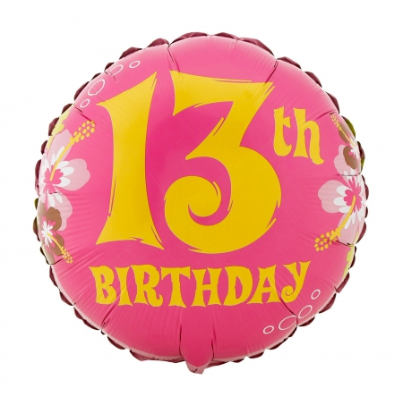 Happy 13th Birthday - teenager, birthday balloon, Happy 13th Birthday, 13th birthday, happy birthday, 13, birthday