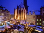 christmas town fair in wuerzburg germany