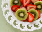 Strawberries and Kiwifruits
