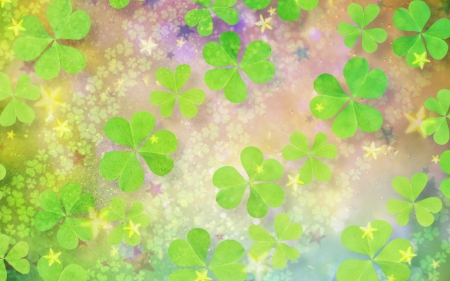 Good luck wall - green, clover, good luck, trefoil, abstract
