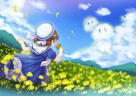 flower field other amp anime background wallpapers on