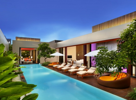 Swimming pool - swimming, relaxation, pool, houses