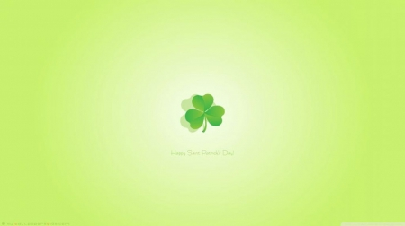 Happy St. Patricks' day - Ireland, HD, Irish, abstract, green, 3D and CG, clover, wallpaper, luck, backround