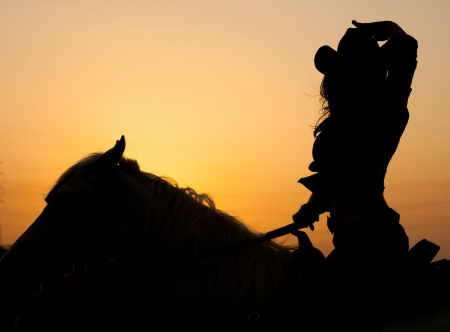 cowgirl silhouett wallpaper - photo #5