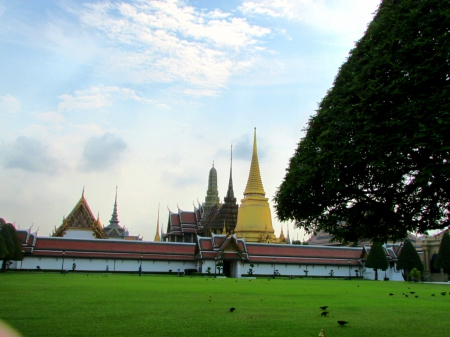 The Grand Palace - religious, sky, thailand, grand palace