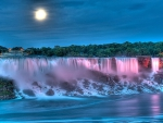 ★Full Moon Splashing at Waterfall★