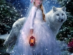 Girl and the White Wolf