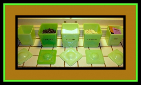Green with Envy awesome jadeite - antique, sugar, hobby, tea, cereal, collecting jadeite