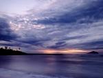 taiwan bay at twilight