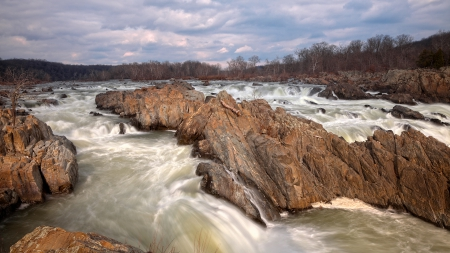 Great Falls - HDR - states, long, american, raymond, nicolas, waterfall, america, us, falls, waterfalls, exposure, usa, united, hdr, nature, great, landscape, virginia