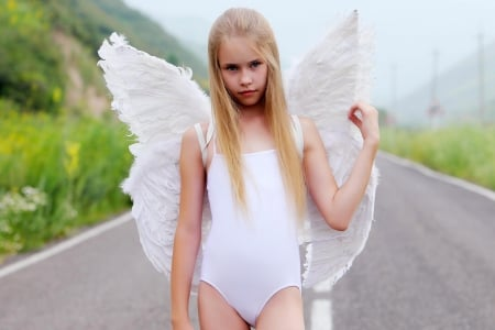 Pretty White Angel Models Female People Background Wallpapers On