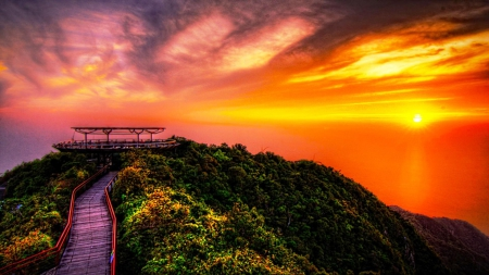Mystic sunset journey to the top of the world sunsets nature background wallpapers on - On top of the world wallpaper ...