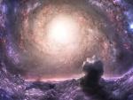 behind a nebula..