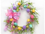 pastel egg wreath