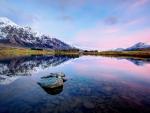 Purple Sunset at Lake