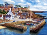 Crail Harbor, Scotland