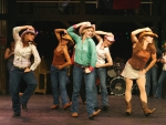 a chorus line of cowgirls