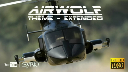 Airwolf - black, series, tv, helicopter