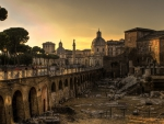 ancient excavated ruins in rome