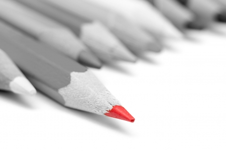 Going Fast - pencils, going fast, black and white, red tip, two colors