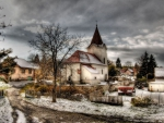 wonderful country village church hdr