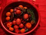 Eggs and orange