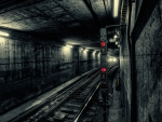 dark subway tunnel hdr
