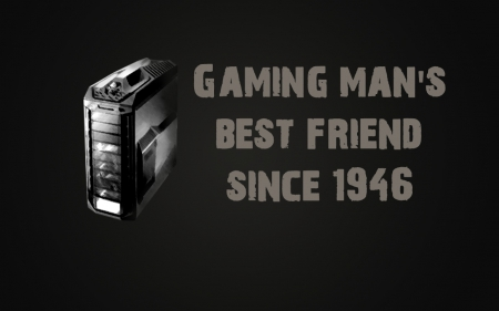 Gaming man's best friend since 1946 - best friend, games, gaming, computers, black and white