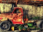 an old russian truck hdr