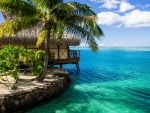 Lodge Over Turquoise Waters