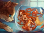 Cat And Mermaid