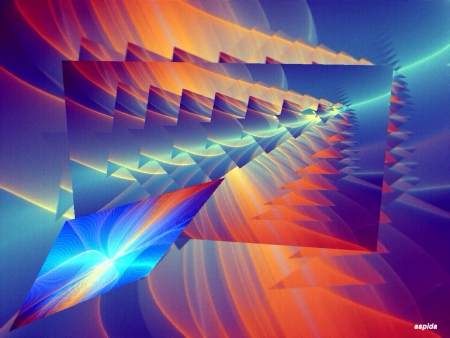 Colorful fractals - fractal, teasers, beautiful, abstract, lights, mind