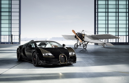 2014 Bugatti Veyron Grand Sport Vitesse Black Bess - Black, Plane, 2014, Sports Car