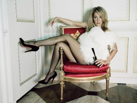 Gillian Anderson - Gillian Anderson, legs, stockings, model, Anderson, actress, Gillian, heels