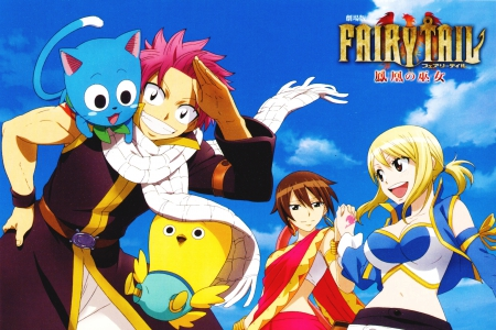 Fairy Tail - natsu, fairy tail, lucy, fairy tail movie