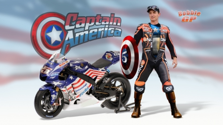 Colin Edwards Captain America - colin edwards, motogp, texas tornado, captain america, madmark99