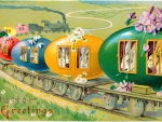 ~Vintage Easter~ Bunny Train