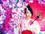 Geisha in Pink