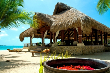 Beach Bar Other Architecture Background Wallpapers On