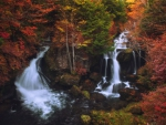 Amazing Autumn Waterfall