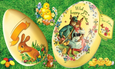 Easter Greeting - egg, celebration, holideay, greeting, spring, easter