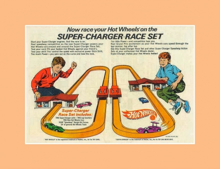 Hot Wheels super charger race set GO ! - rpm, collect, hobby, car