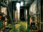 flooded industrial basement hdr
