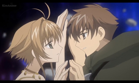Our Love Story - pretty, sweet, nice, anime, anime girl, tsubasa, clamp, couple, shaoran, sakura, Tsubasa Chronicles, female, male, lovely, romantic, romance, anime couple, syaoran, boy, girl, scene